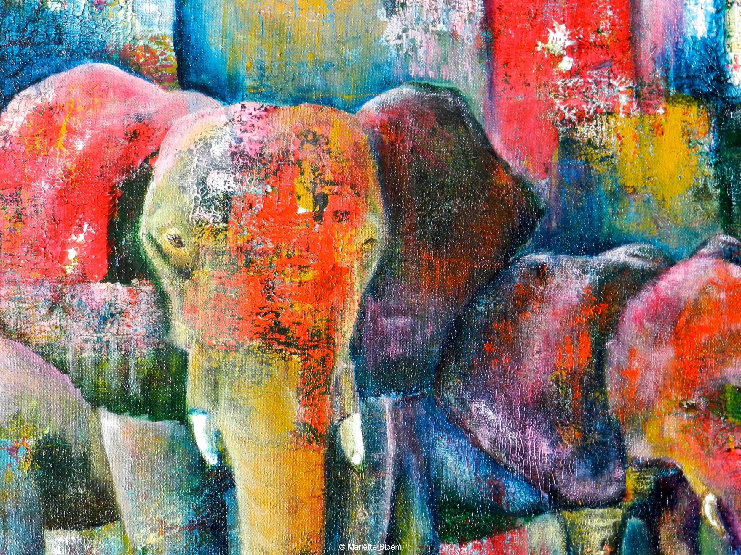 Olifanten abstract